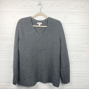 Calvin Klein Gray V-Neck Sweater